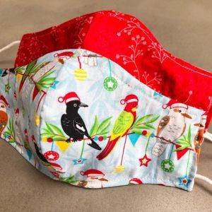 Christmas birds face mask