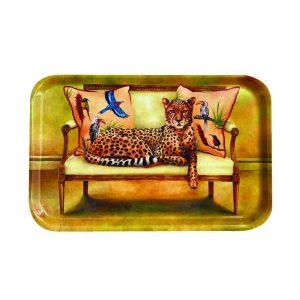 Cheetah Melamine Tray