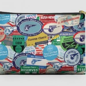 pan am stickers pouch